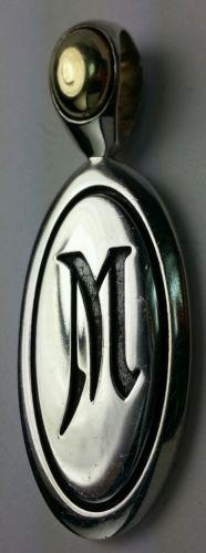 Ann king 18k & 925 QUINCE INITIAL PENDANT M LOWEST ON EBAY - http://designerjewelrygalleria.com/ann-king/ann-king-18k-925-quince-initial-pendant-m-lowest-on-ebay/