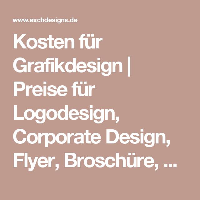 Kosten Für Grafikdesign Preise Für Logodesign Corporate