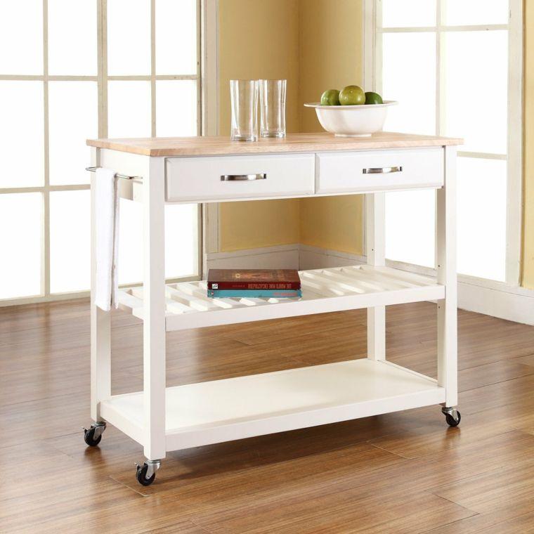 mobili-da-cucina-ikea-colore-bianco-top-legno-bicchieri-frutta ...