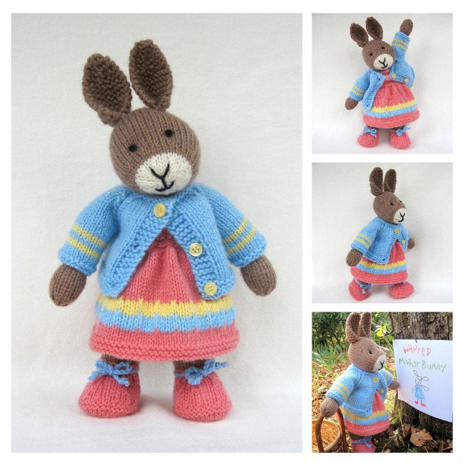 Mother bunny 13 33cm rabbit doll knitting pattern
