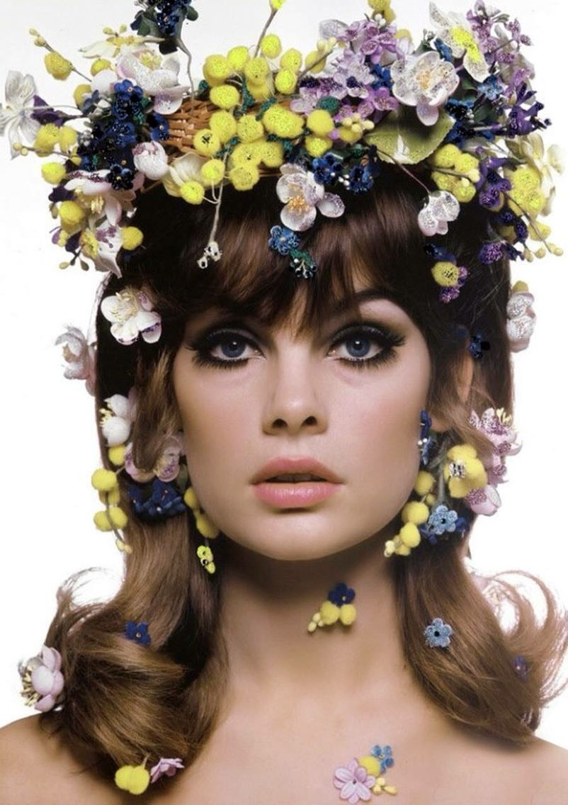Jean rosemary shrimpton her iconic flower crown i want a colourful and highly detailed flower crown like this one dont you izmirmasajfo