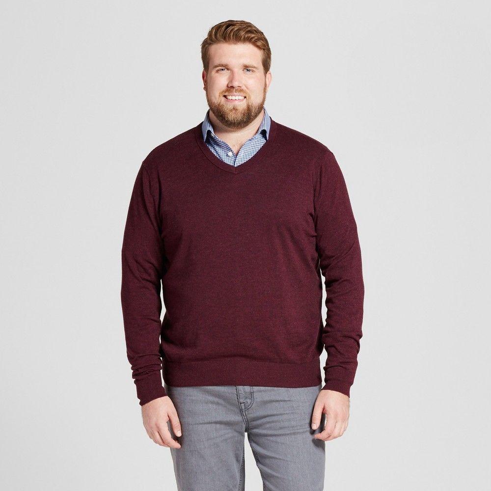 Red and black flannel cardigan  Menus Big u Tall Standard Fit VNeck Sweater  Goodfellow u Co