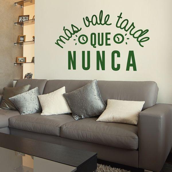 Pin de papeles pintados en vinilos decorativos textos pinterest wall words y romantic - Papeles pintados y vinilos ...