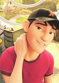 Tadashi's love face *me* ... Nice to see you again, I gotta get home, bye. *leaves, gets home, puts bag down, goes to bedroom, puts year 7 top on since it still fits, goes down stares and plays smash on the wii*