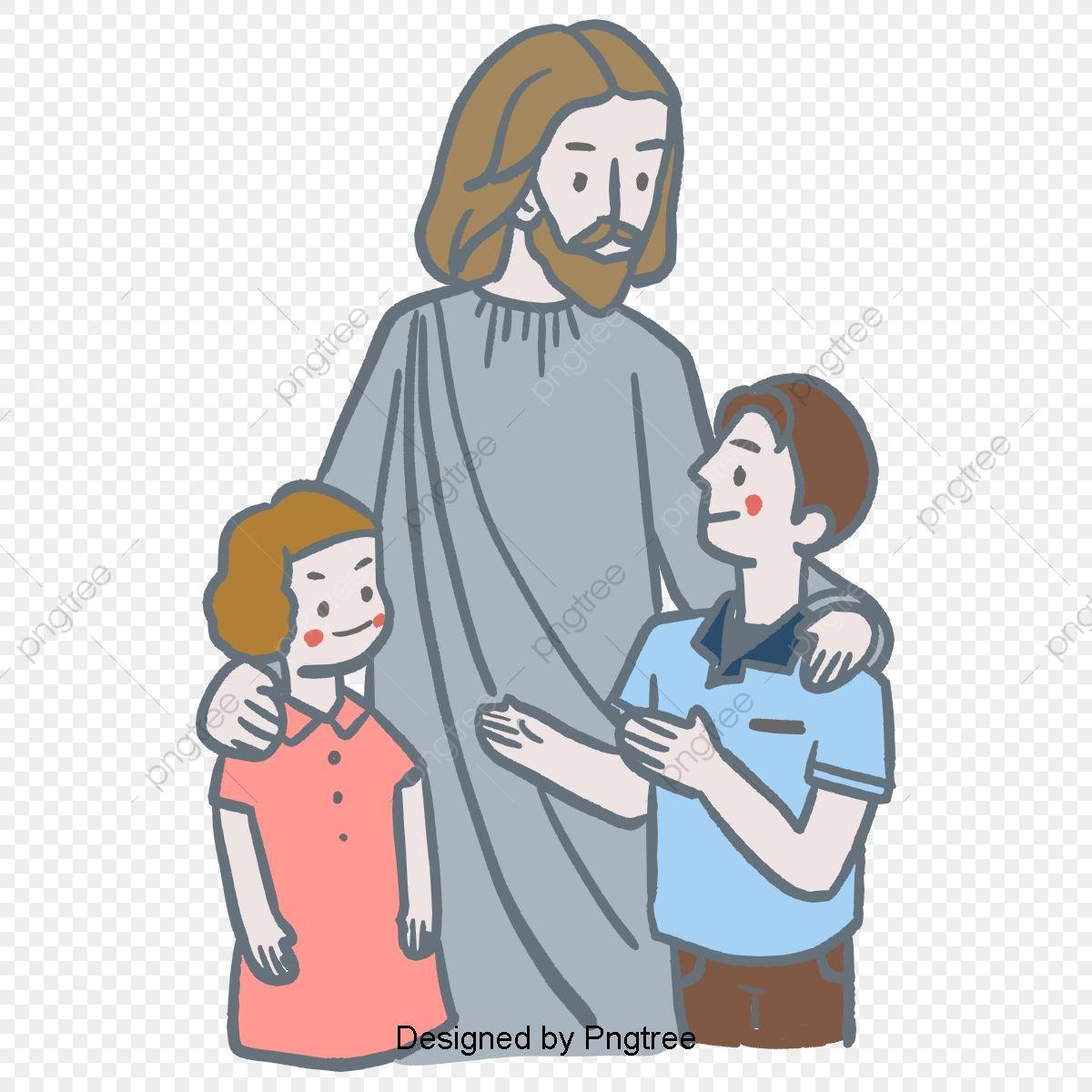 gambar cerita alkitab tuhan yesus kristus menjaga anak anak tangan ditarik ilustrasi alkitab tuhan yesus png dan psd untuk muat turun percuma di 2020 alkitab kristus ilustrasi gambar cerita alkitab tuhan yesus