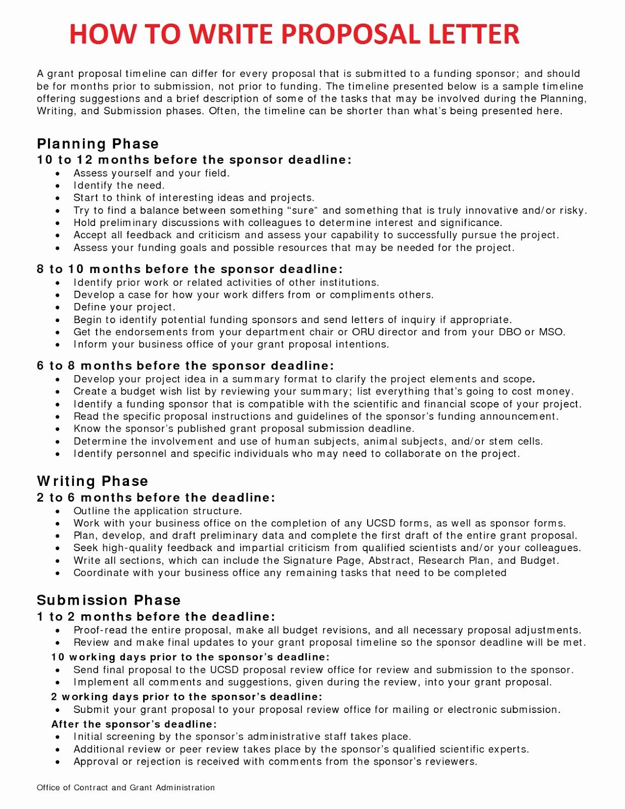 Writing A Business Proposal Template Fresh Business Letter Sample November 2012 Proposal Writing Writing A Business Proposal Grant Proposal Writing