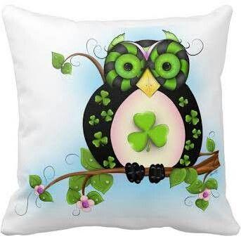 pillow Irish Owl on Etsy.