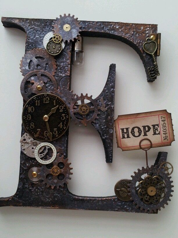 Steampunk letters steampunk pinterest steampunk for Steampunk arts and crafts