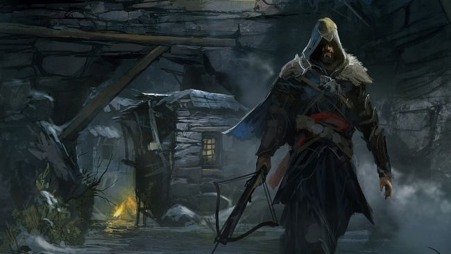 Download 1920x1080 HD Wallpaper ezio auditore crossbow art