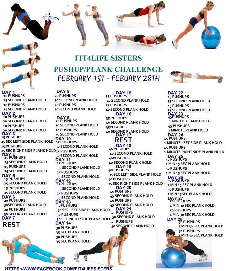 Plank/Push Up Challenge - Fit4Life Sisters @Katie Schmeltzer