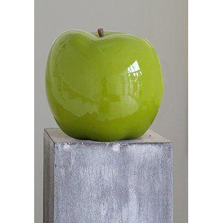 Casablanca Skulptur Aus Keramik Apfel Grun Glasiert