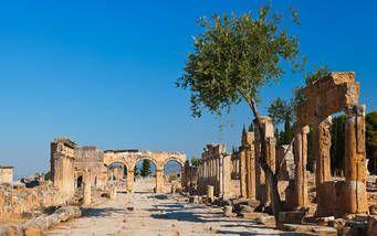 Alte Ruinen von Pamukkale