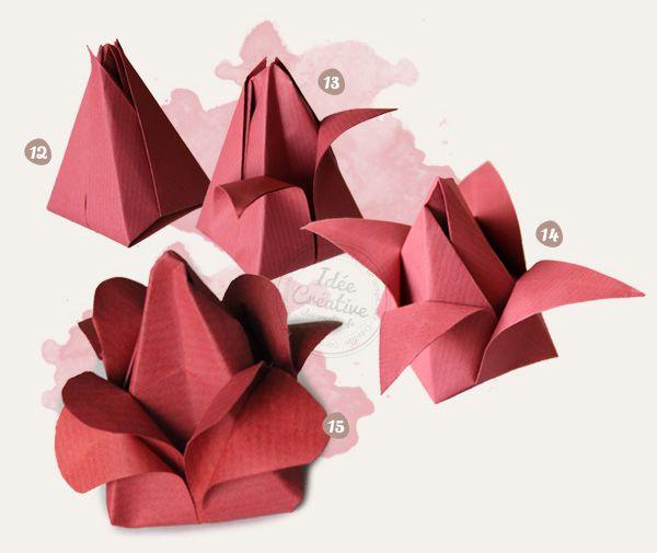 Creer Une Fleur En Papier Origami Bricolage And Crafty