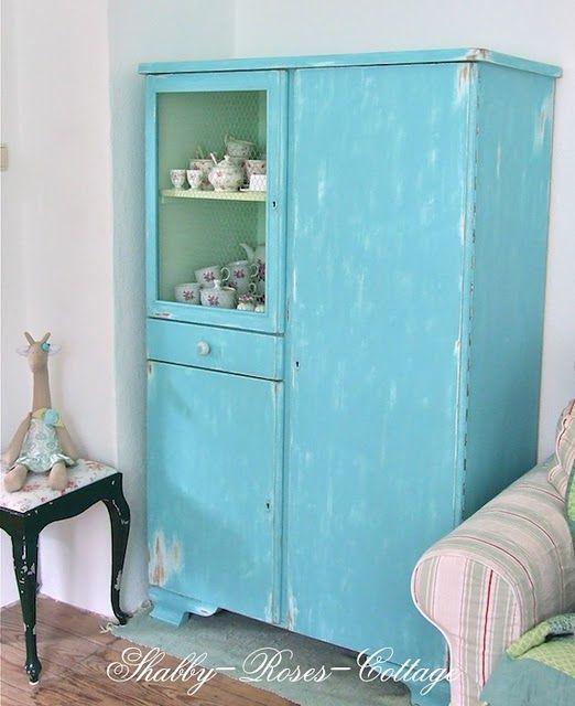 My Aqua Shabby Cupboard :o)