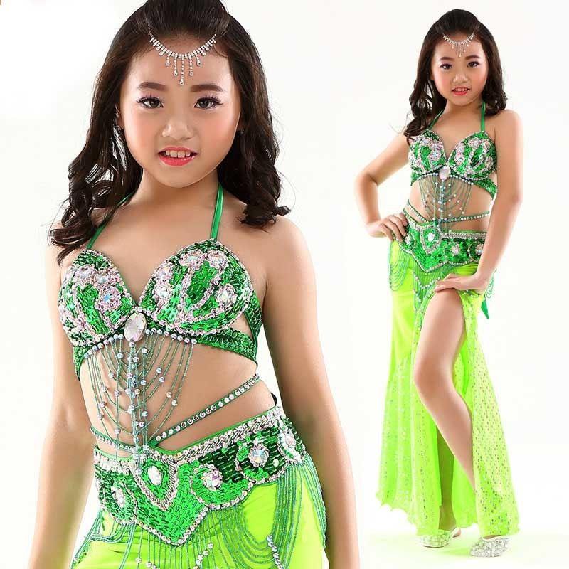 d83aa7a9581a 8 colori Stage Performance Danza del ventre orientale Vestiti per bambini  Costume di danza del ventre