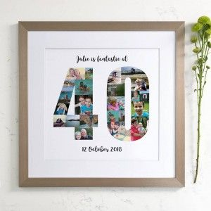 This Art Would Make A Thoughful And Unique Gift For A Special 40th Birthday Birthday Photo Collage Photo Collage Birthday Photos