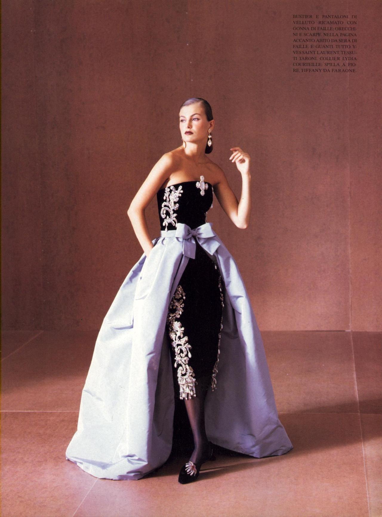Abiti Da Sera Yves Saint Laurent.Yves Saint Laurent 1997 Vintage Evening Gowns Fashion Dresses