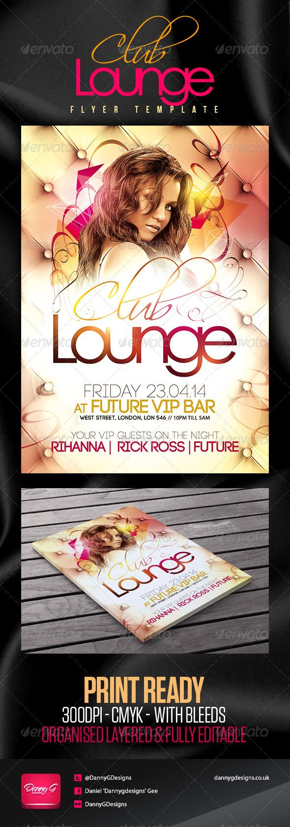 Club Lounge Flyer Template  Flyer Size Elegant Sophisticated And