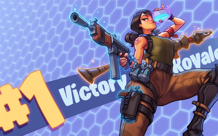 Download Wallpapers Fortnite 2018 Games Victory Royale Ps4 Besthqwallpapers Com Fortnite Victorious Video Game Characters