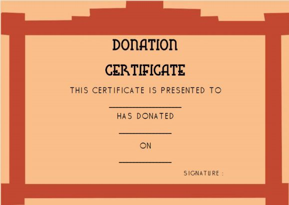 Donation Gift Certificate Template  Donation Certificate