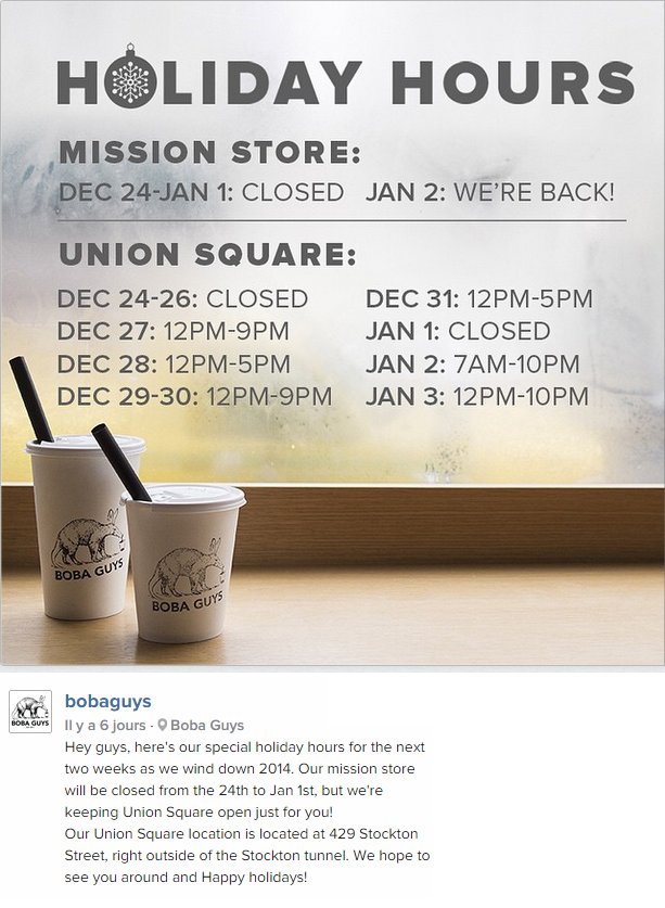 Great Instagram post from Boba Guys Union Square in San Francisco, CA / Sympathique post Instagram de Boba Guys Union Square à San Francisco, CA http://instagram.com/p/w2DN5ygIAO/?modal=true