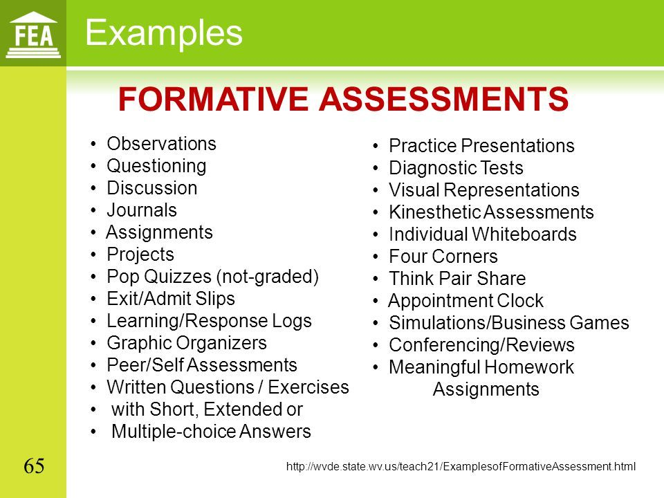 65 examples formative assessments . | edtpa | pinterest | formative