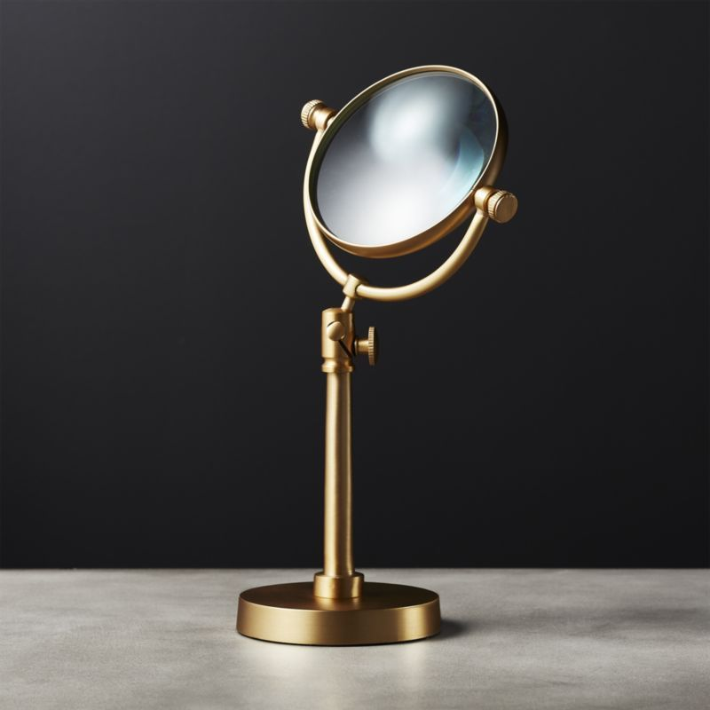 Standing Brass Magnifying Glass Modern Jewelry Box Magnifying
