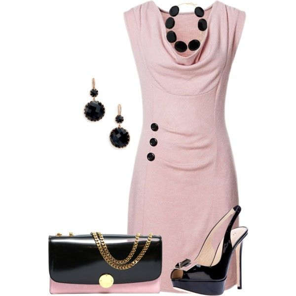 Pink and black! by marisol-menahem on Polyvore featuring moda, Emilio Pucci, Ivanka Trump and Panacea