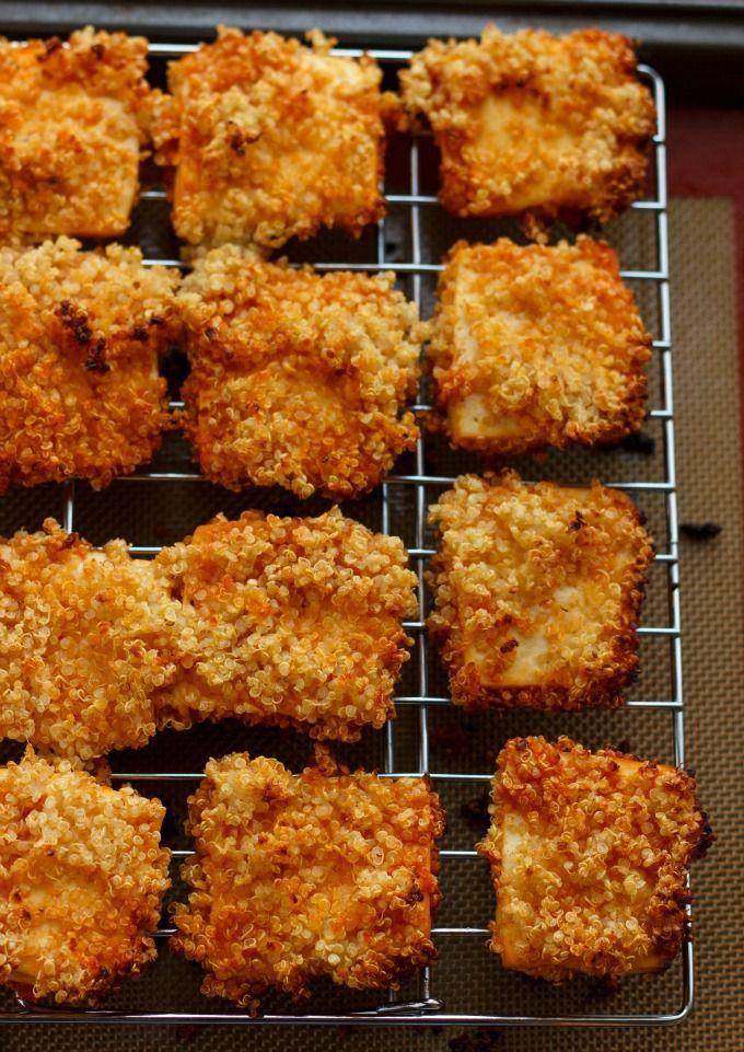 Quinoa Crusted Tofu Nuggets (Tofu