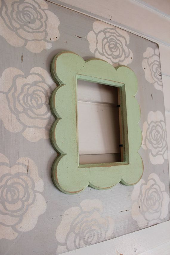 5x7 Distressed Wood Picture Frame Grey with Canary Bloom Vintage ...