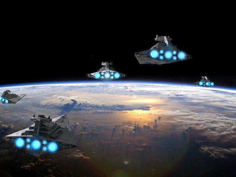 Imperial Invasion On Earth Star Wars Ships Star Wars Pictures Star Wars Wallpaper