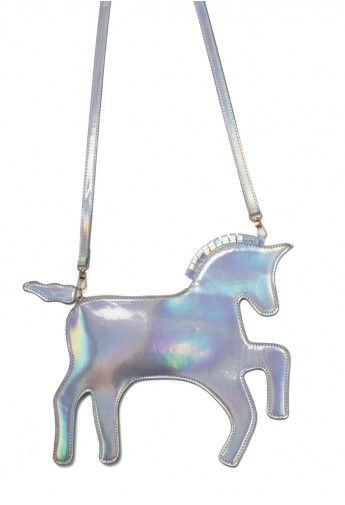 Silver Jumping Horse Shoulder Bag