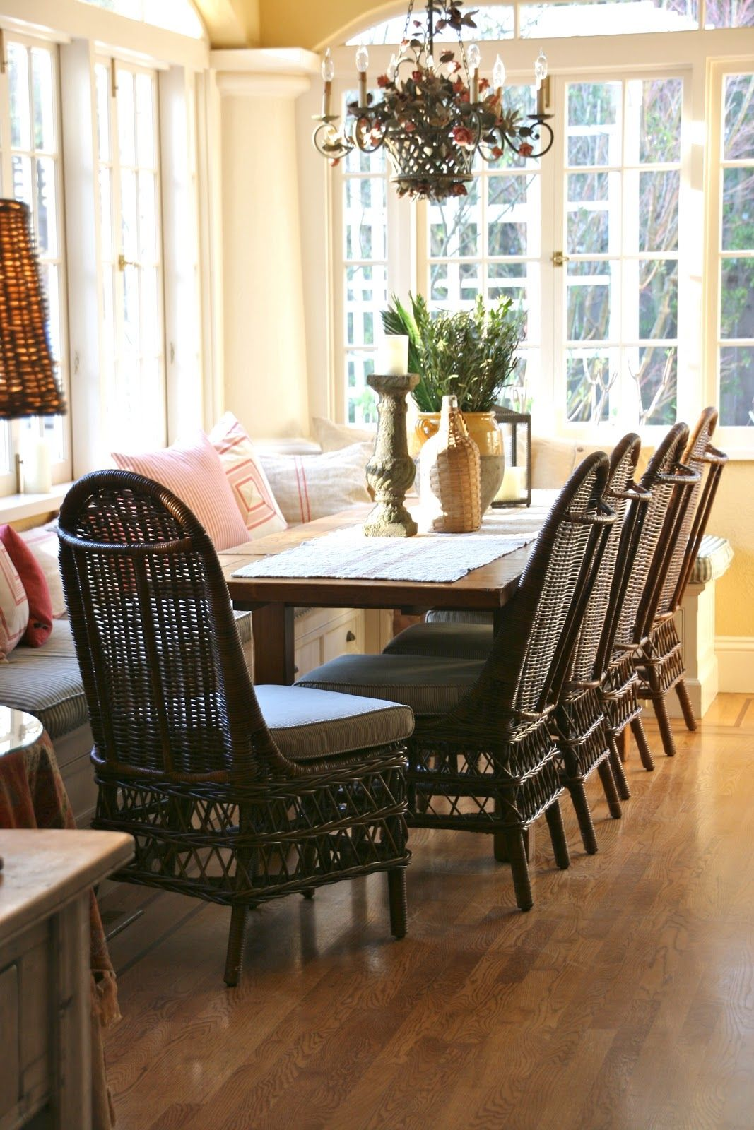 Pottery Barn Wicker Dining Room Chairs  Httpenricbataller Endearing Wicker Dining Room Sets Decorating Inspiration
