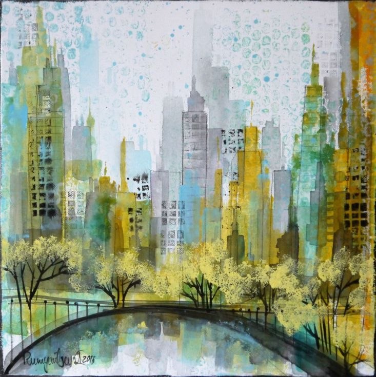 Buy New York Abstract 3, Acrylic painting by Irina Rumyantseva on Artfinder. Discover thousands of other original paintings, prints, sculptures and photography from independent artists.
