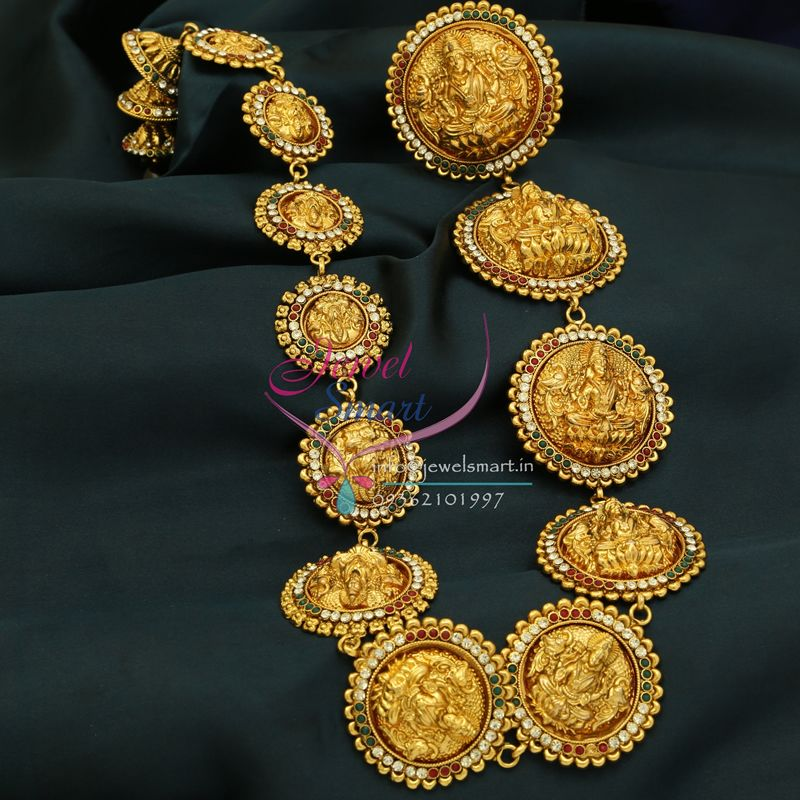 H0796 Traditional Indian Wedding Hair Jewelry Gold Plated Antique