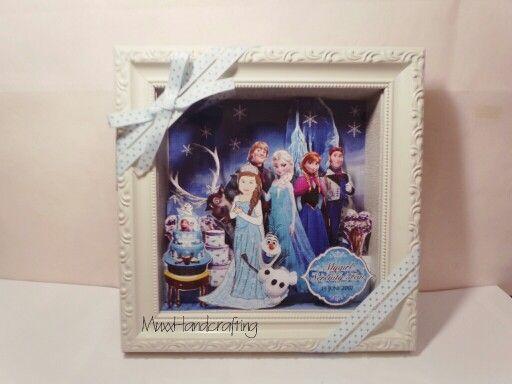 Little Girl Birthday Gift, Disney Frozen Theme, 20x20cm ornamented ...