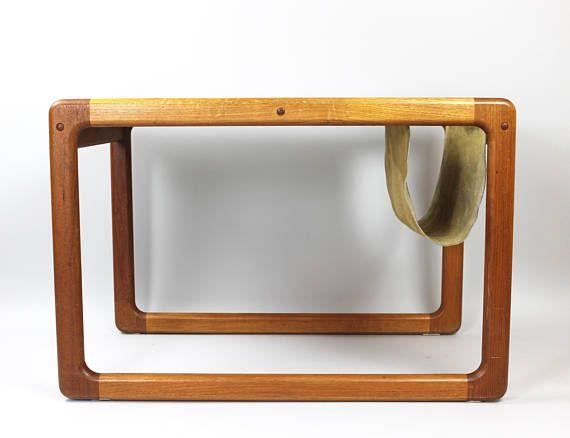 Danish Design Coffee Table, Midmodern Tisch, Zeitungsständer - beistelltisch für küche