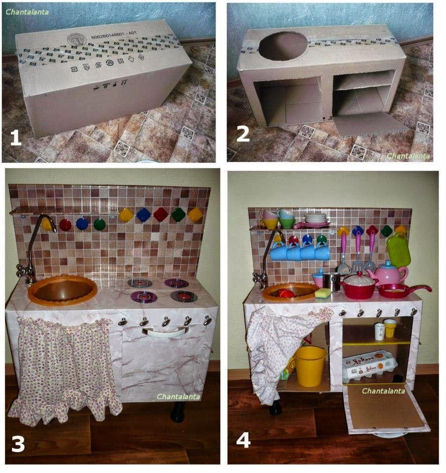 Мебель из коробок своими руками для детей фото 472