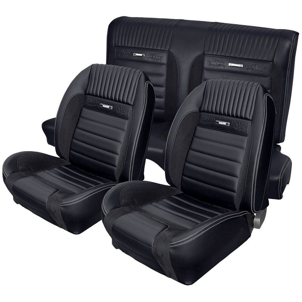 Deluxe Pony Upholstery For 1964 1 2 1966 Mustang 2 2 Fastback W Bucket Seats Front Rear Fusca Customizado Carro Fusca Fusca