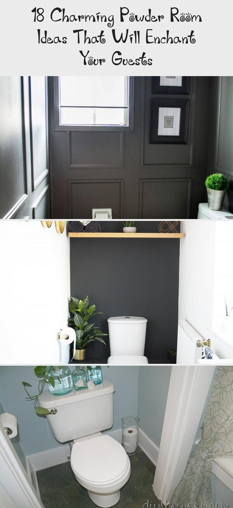 18 Charming Powder Room Ideas That Will Enchant Your Guests - İdeas | Small half bath, Eclectic bathroom design, Eclectic bathroom