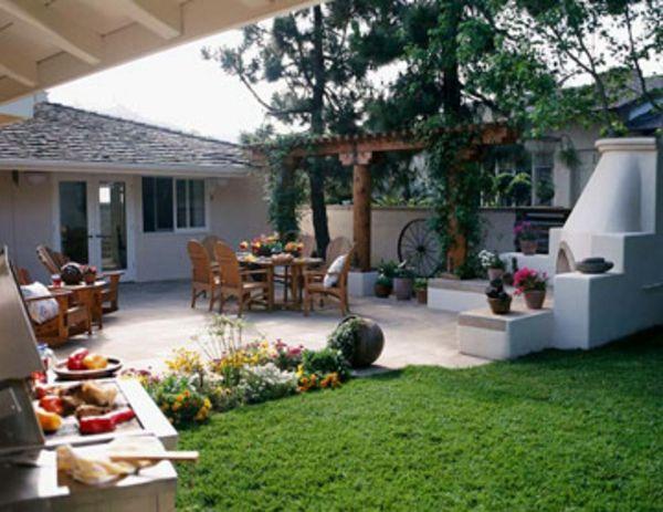 terrasse gemütlichkeit ideen- halb waende | garten | pinterest - Outdoor Patio Design Ideen
