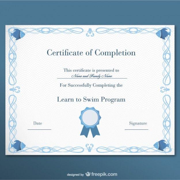 Certificate free template Free Vector | Design | Pinterest