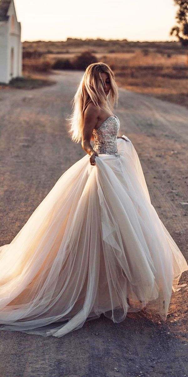 best wedding dresses ball gown sweetheart neckline strapless beaded blush tali photography