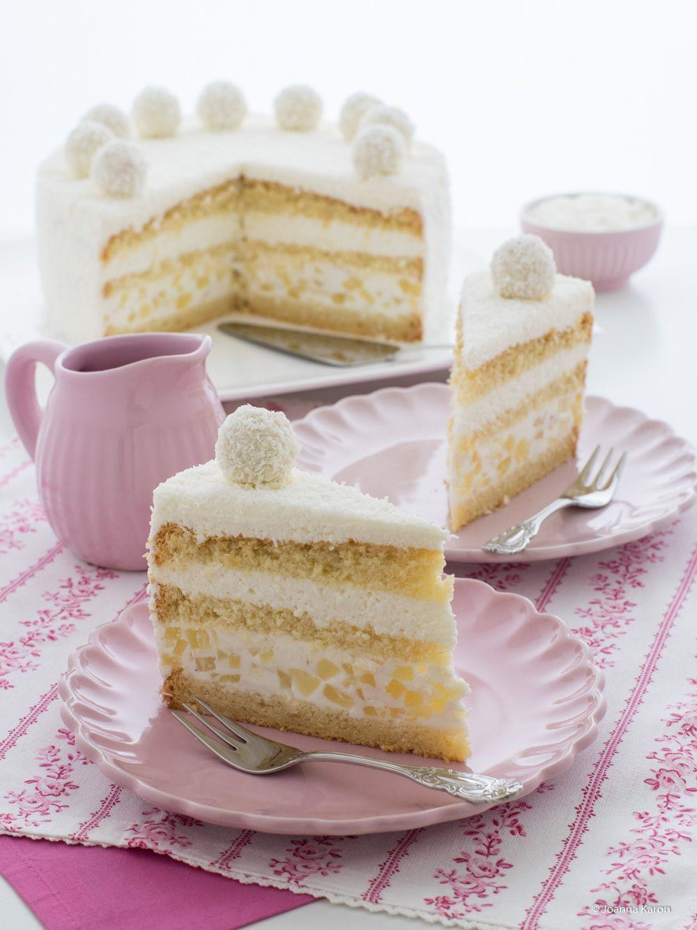 Kokos Ananas Torte Die Kuchenzuckerschnecke Pinterest