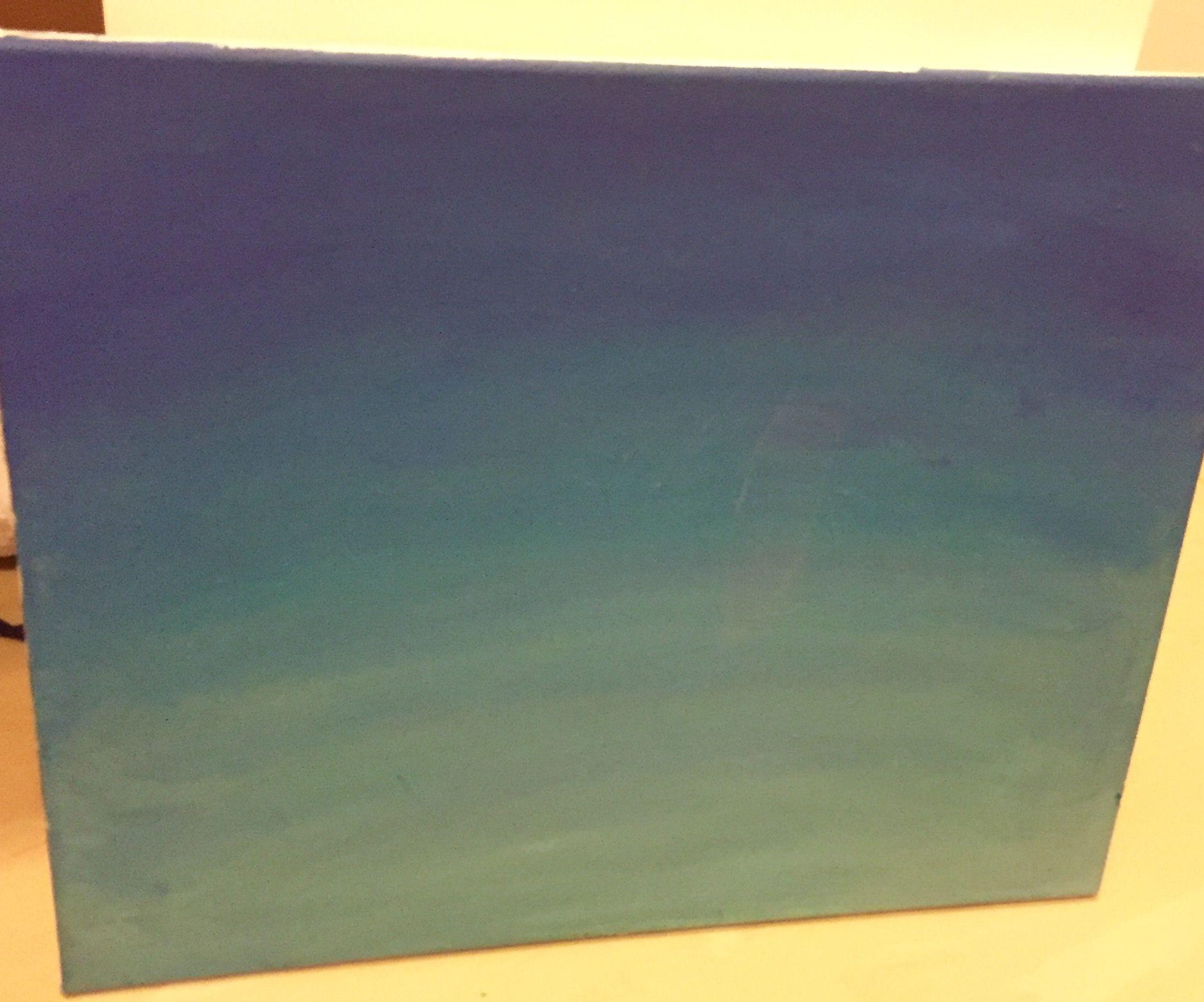 دمج اللون الأزرق والأبيض والأصفر يكون تدرجات لون البحر Art Painting