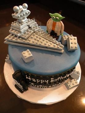 Custom Birthday Cake Denver Lego Star Wars Cake Cakescupcakes
