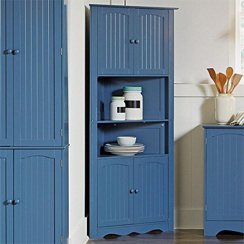 Brylanehome Country Kitchen Corner Cabinet (Blue,0) Bryla... https ...