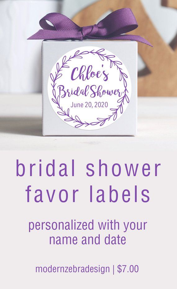 Custom Bridal Shower Labels Personalized Stickers