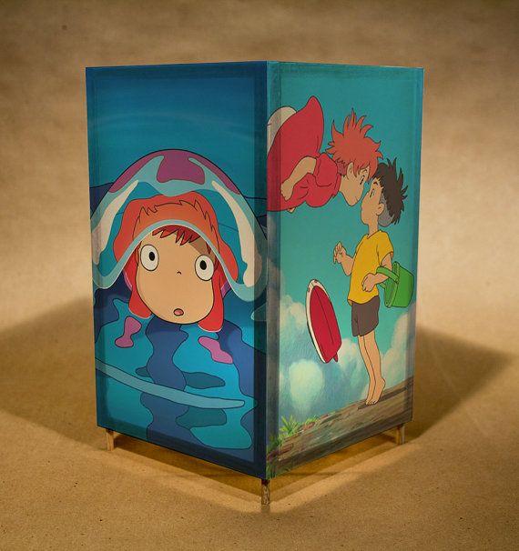 Ponyo Nightlight Wtih Led Lamp Featuring Ponyo From The Etsy Studio Ghibli Ponyo Ghibli