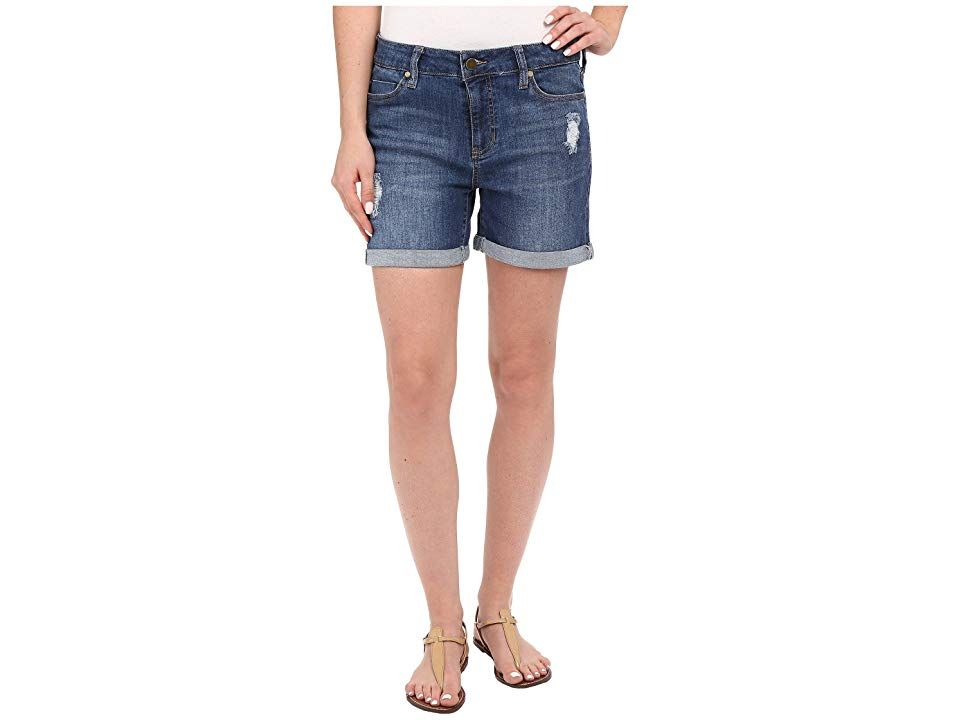 Liverpool Vickie Shorts w Destruction in Montauk Mid Blue Montauk Mid Blue Womens Shorts Spend those sunny days showing a bit of leg in this casual cool short Lightweight...